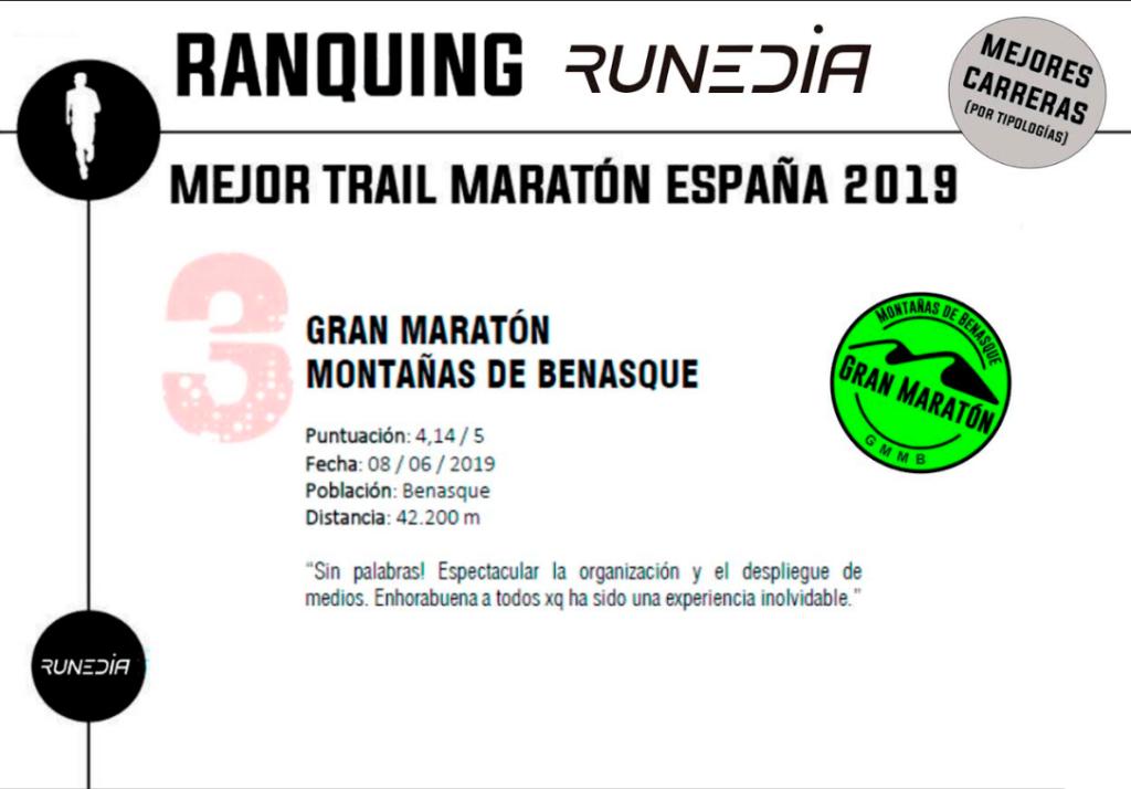 Mejor Trail Maratón España 2019